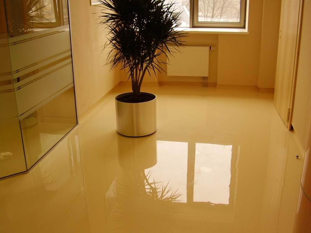 Как делается бетонный пол